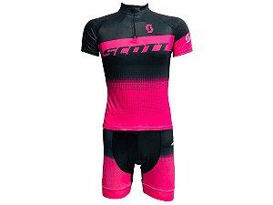 Conjunto Ciclismo Feminino Bermuda e Camisa Scott RC