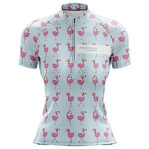 Camisa Ciclismo Mountain Bike Feminina PRO TOUR Flamingos