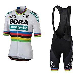 Conjunto Ciclismo Bretelle e Camisa Bora Sagan Forro GEL