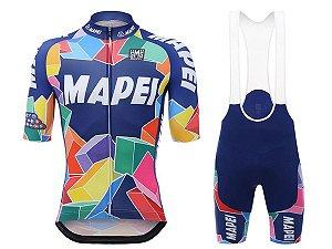 Conjunto Ciclismo Bretelle e Camisa Mapei