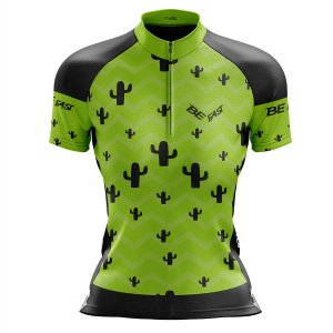 Camisa Ciclismo Mountain Bike Feminina Cacto Verde