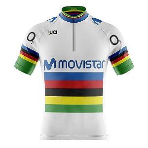 Camisa Ciclismo Mountain Bike Movistar UCI