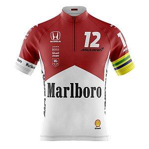 Camisa Ciclismo Mountain Bike McLaren Ayrton Senna