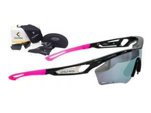 Óculos Ciclismo Mountain Bike Dvorak Rosa e Preto 3 Lentes