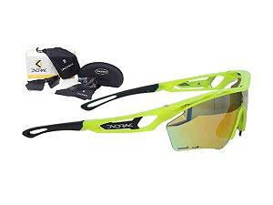 Óculos Ciclismo Mountain Bike Dvorak Amarelo Flúor3 Lentes