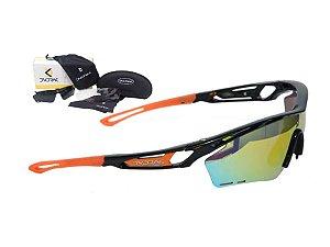 Óculos Ciclismo Mountain Bike Dvorak Laranja 3 Lentes