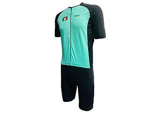Conjunto Ciclismo Bermuda e Camisa premium Italia Forro em Gel
