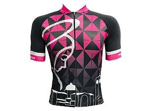 Camisa Ciclismo Mountain Bike Pro Tour Nossa Senhora Rosa Zíper Total