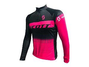 Camisa Ciclismo Mountain Bike Feminina Scott Rosa