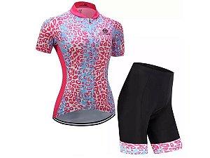 Conjunto Ciclismo Bermuda e Camisa Active Forro em Gel