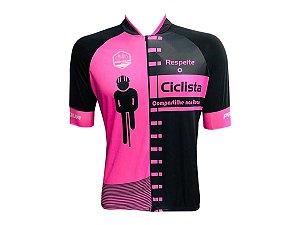 Camisa Ciclismo Mountain Bike Pro Tour Respeite Zíper Abertura Total