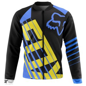 Jaqueta Térmica Ciclismo Mountain Bike Fox Racing Azul peluciado para frio