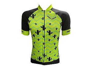 Camisa Ciclismo Mountain Bike Pro Tour Caqtos Zíper Abertura Total