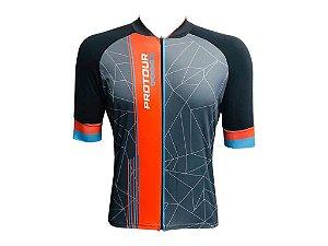 Camisa Ciclismo Mountain Bike Pro Tour Glob Zíper Abertura Total