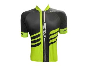 Camisa Ciclismo Mountain Bike Pro Tour Fish Zíper Abertura Total