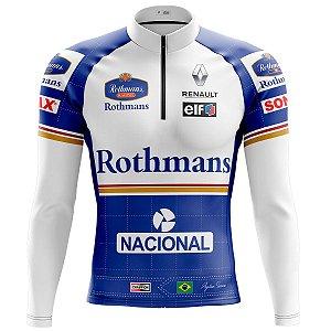 Camisa Ciclismo Mountain Bike Senna Williams Manga Longa