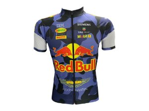 Camisa Ciclismo Mountain Bike Red Bull Zíper Abertura Total