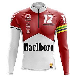 Camisa Ciclismo Manga Longa Mclaren Marlboro Manga Longa