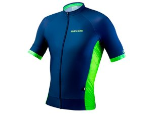Camisa Ciclismo Masculina Evoe Azul Amarelo Neon