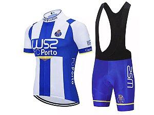 Conjunto Ciclismo Bretelle e Camisa W52 Porto Forro em Gel