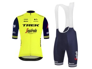 Conjunto Ciclismo Bretelle e Camisa Trek Forro em Gel