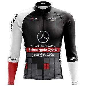 Camisa Ciclismo Mountain Bike Mercedes Benz Manga Longa