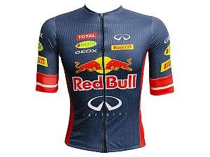 Camisa Ciclismo Mountain Bike Red Bull Premium Zíper Total