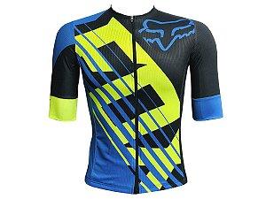 Camisa Ciclismo Mountain Bike Fox Racing Premium Zíper Total