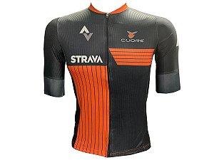 Camisa Ciclismo Mountain Bike Strava Premium Zíper Total
