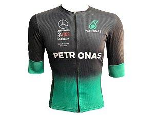 Camisa Ciclismo Mountain Bike Petronas Premium Zíper Abertura Total