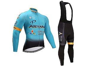 Conjunto Ciclismo Jaqueta e Calça Térmica Forro em Gel