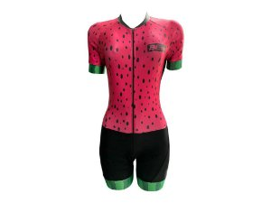 Macaquinho Ciclismo Feminino Pro Tour Melancia