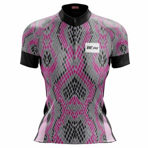 Camisa Ciclismo Mountain Bike Feminina Cobra Rosa