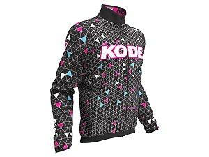 Capa de Chuva Ciclismo Mountain Bike Feminina Kode Geometric