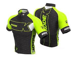 Camisa Ciclismo Mountain Bike Kode Elite Expert Amarelo Neon