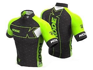 Camisa Ciclismo Mountain Bike Kode Elite Expert Verde Neon