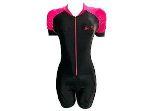 Macaquinho Ciclismo Feminino Pro Tour Forro em GEL
