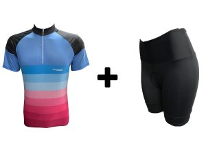 Kit Camisa e Bermuda Feminino Degrade