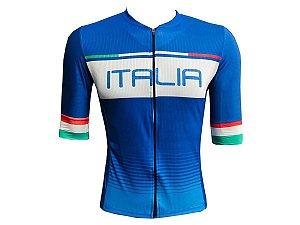 Camisa Ciclismo Mountain Bike Itália Premium Ziper Total