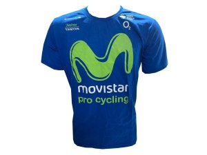 Camisa CASUAL Movistar Azul Manga curta