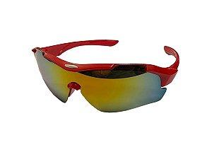 Óculos De Sol Para Ciclismo Rad7 Vermelho