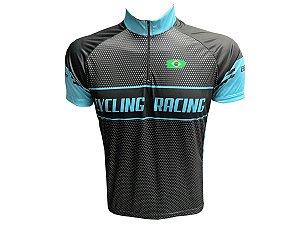 Camisa Ciclismo Masculina Be Fast Preta Pintinhas