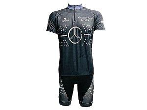 Conjunto Masculino Ciclismo MTB Mercedes preto
