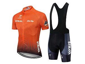 Conjunto Ciclismo Bermuda e Camisa Strava Gran Found