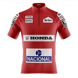 Camisa Ciclismo Mountain Bike Ayrton Senna Mclaren