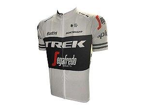 Conjunto Ciclismo Bretelle e Camisa Trek Preto/Branco