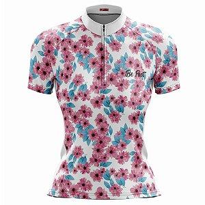 Camisa Ciclismo Mountain Bike Feminina Flores