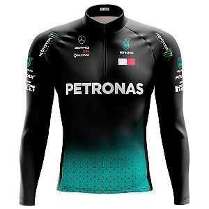 Camisa Ciclismo Mountain Bike Petronas Manga Longa