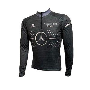 Camisa Ciclismo Mountain Bike Mercedes-Benz Manga Longa