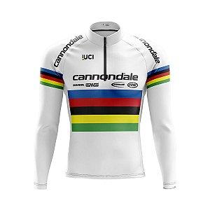 Camisa Ciclismo Mountain Bike Cannondale Uci Manga Longa